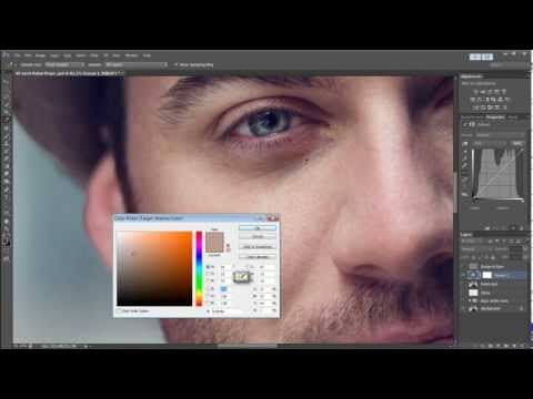 How To Remove Bags Under Eyes Using Curves Using Photoshop