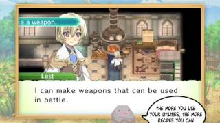 Rune Factory 4: How-To Trailer 3 -Cooking, Forging, Mixing and Crafting!-