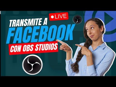 OBS STUDIOS COMO TRANSMITIR A FACEBOOK LIVE