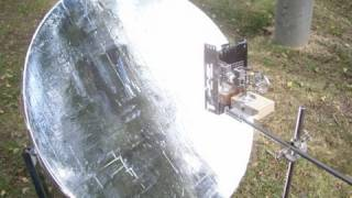 Mirror parabolic dish tests