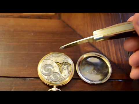 Servicing an Elgin pocket watch
