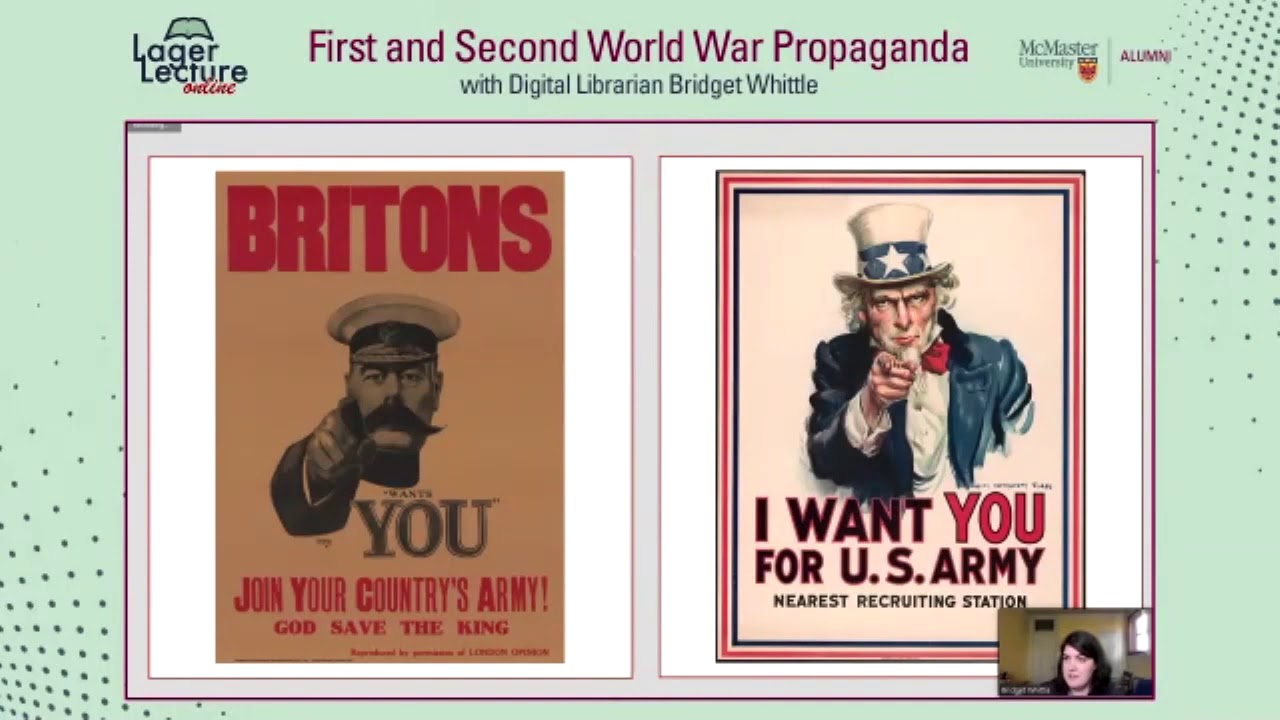 Image for Lager Lecture Online: First and Second World War Propaganda with Bridget Whittle webinar