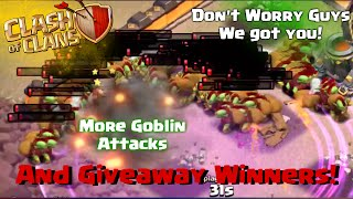 Clash of Clans | 270 Goblin War Attack and Clash of Clans Giveaway Winners!