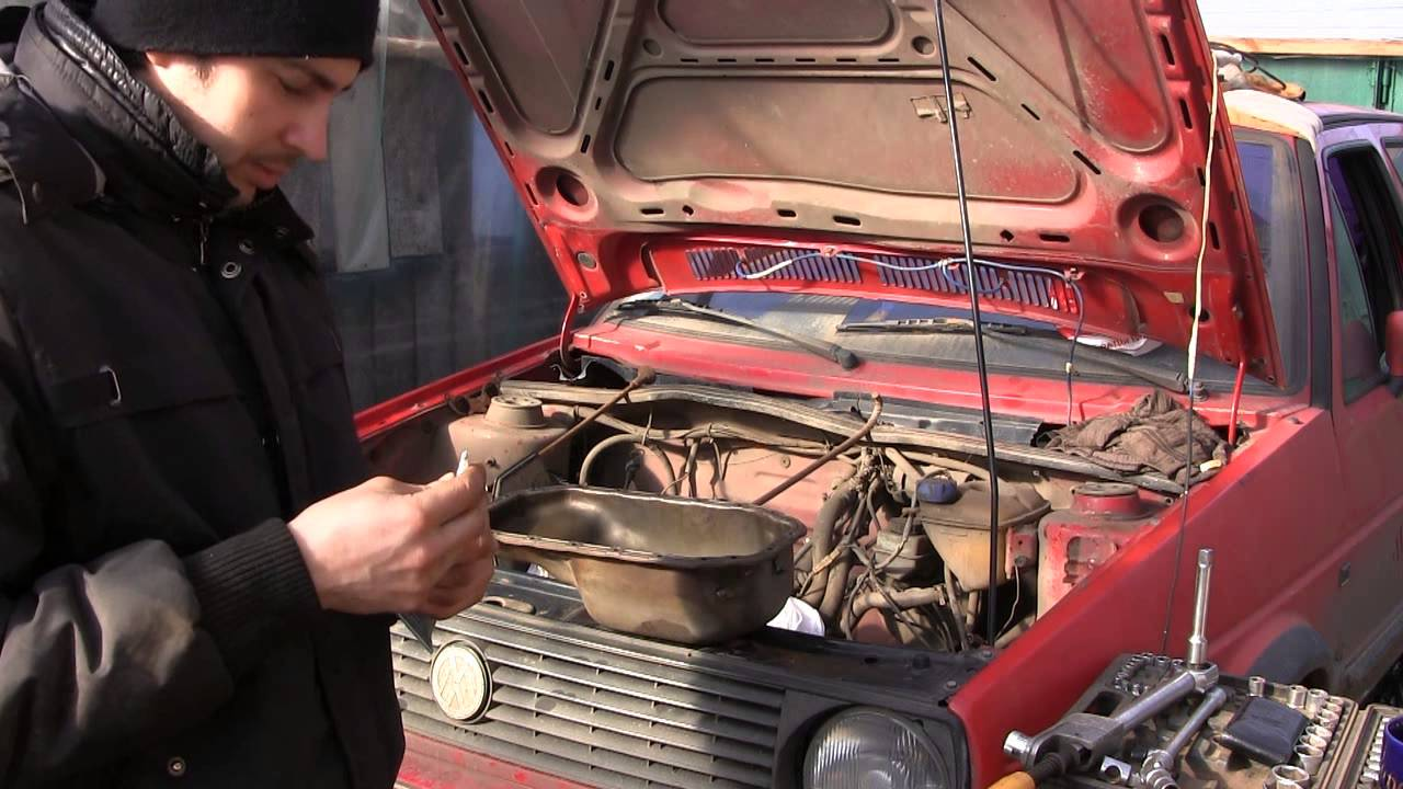 Golf 2 ремонт ДВС видео 18, динамометрический ключ и установка поддона