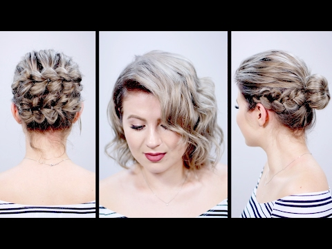 VALENTINE'S DAY INSPIRED SHORT HAIRSTYLES TUTORIAL | Milabu