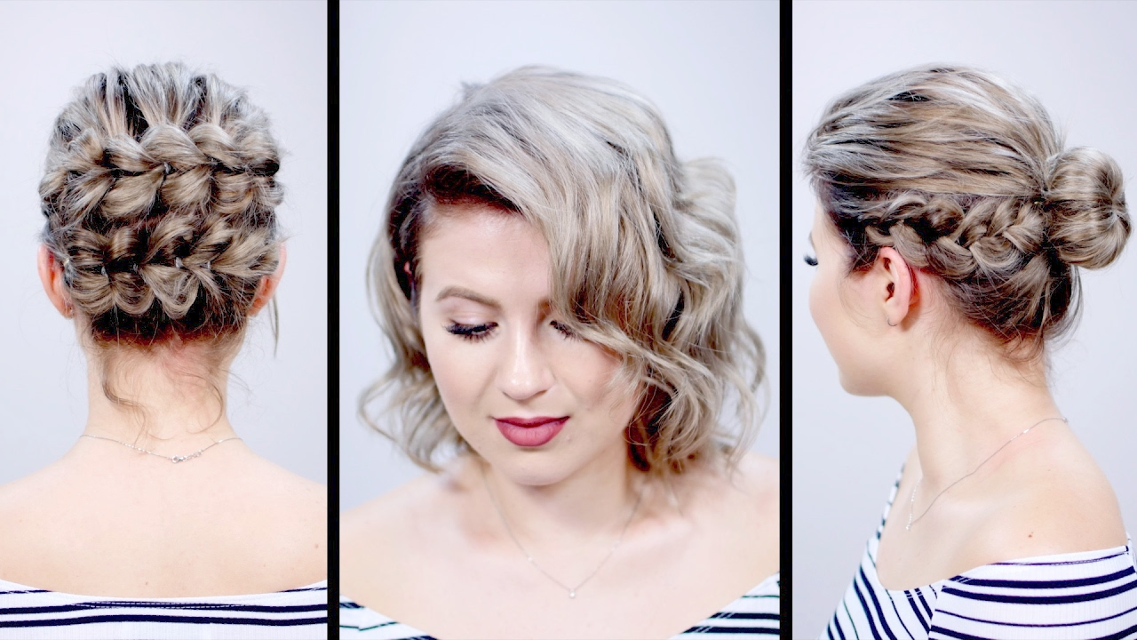 valentine's day inspired short hairstyles tutorial | milabu