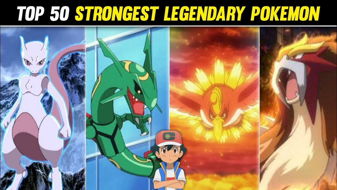 Top 50 Strongest Legendary Pokemon|Ranking All Strongest Legendary Pokemon|Explained in hindi