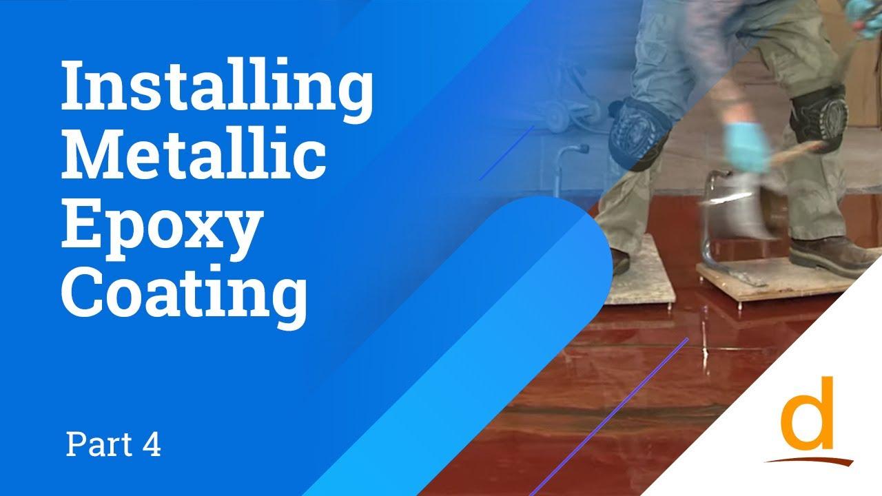 How to install Designer Epoxy Flooring System  Part 4