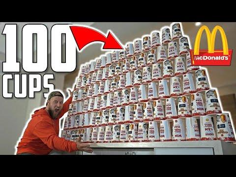 Download Youtube: 100 McDONALD's DRINKS MONOPOLY EXPERIMENT CHALLENGE!