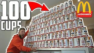 100 McDONALD's DRINKS MONOPOLY EXPERIMENT CHALLENGE!