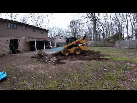 Demolishing a Concrete Patio with a Skid Steer | Timelapse Video