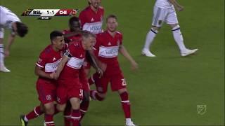 Bastian schweinsteiger scores from outside the box!