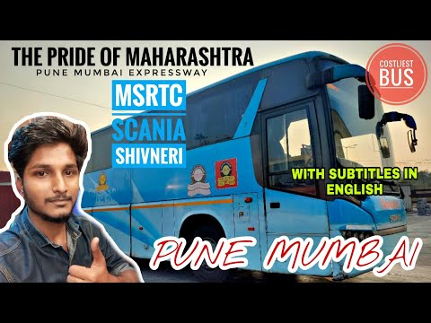 MSRTC BIAXLE SCANIA | Pune 🔄 Mumbai | Travel Vlog | Bus Review #msrtc #shivneri #bus #vlog