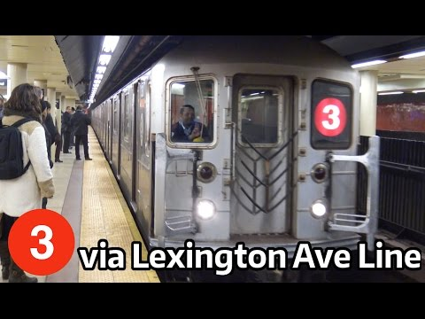 ⁴ᴷ 3 Train Rerouted via the Lexington Avenue Line