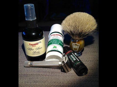 Parker Variant Razor - Taconic Shave Stick - Gillette Nacet