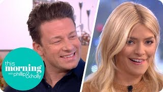 Holly Gets Personal With a Turkey in Jamie Oliver
