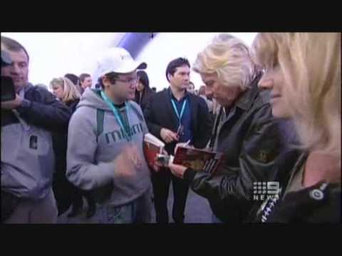 Virgin Galactic - Interview with Ruslan Kogan on Channel 9 News (9/12/09)