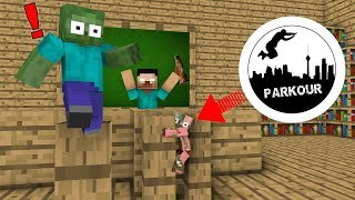 Monster School : Parkour Challenge -minecraft animation