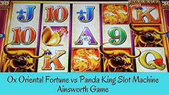 OX ORIENTAL FORTUNE vs PANDA KING SLOT MACHINE - AINSWORTH GAME - SunFlower Slots