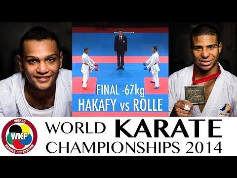 ROLLE vs HANAFY. Final Kumite -67kg. 2014 World Karate Championships