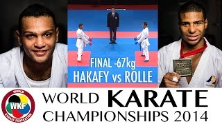 ROLLE vs HANAFY. Final Kumite -67kg. 2014 World Karate Championships