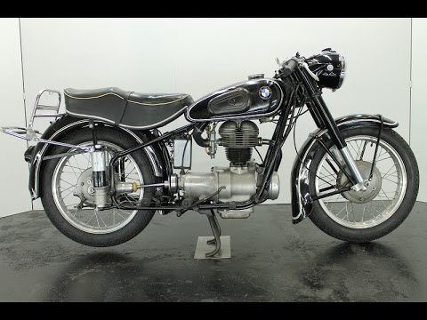 bmw r25/3 1955 250cc 1 cyl ohv - vintage motorcycle - start up