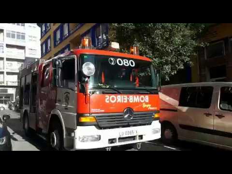 Incendio na rúa Concepción Arenal de Lugo