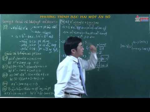 Giải tích lớp 10 - Phương trình - Hệ phương trình - Bậc hai một ẩn - Cadasa.vn
