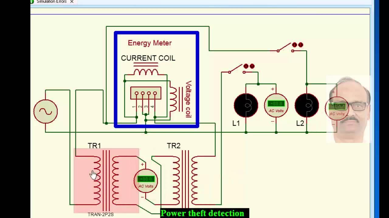 electricity theft detection circuit [ 1280 x 720 Pixel ]