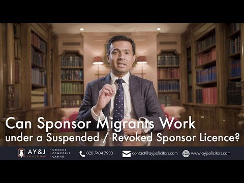 Can Sponsored Migrants Work under a Revoked Sponsor Licence