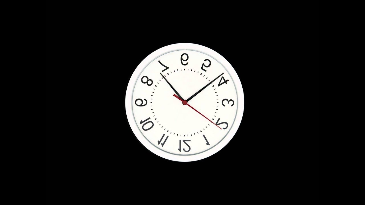 Upside Down Wall Clock Effect With Time Lapse Fast Moving