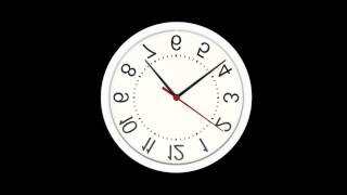 Upside Down Wall Clock Effect with Time Lapse Fast Moving Hands Analog Face High Definition HD Video