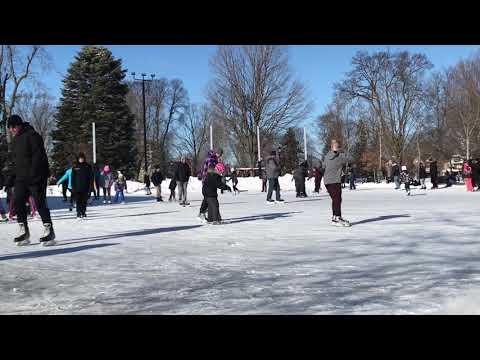 2019 Family day skating at /Victoria Park/London Ontario/Canada