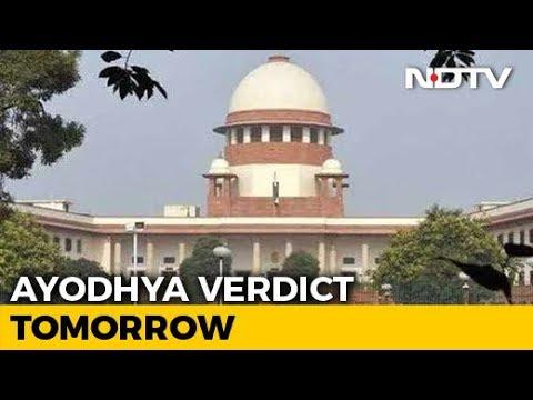 Historic Supreme Court Verdict In Ayodhya Case Tomorrow