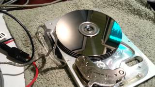 Hard Drive Spindle Motor Running on BLDC Controller at 15000+ RPM
