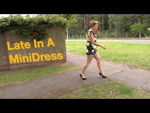 Late In A Mini Dress
