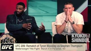 Heated Argument of Tyron Woodley vs Stephen Thompson UFC 209