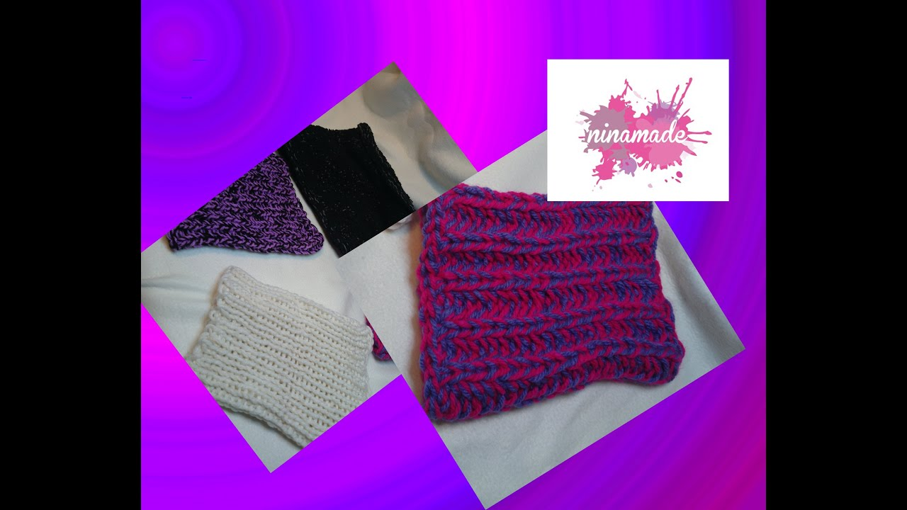 Comment tricoter un snood avec des c tes anglaises youtube - Comment tricoter un plaid ...
