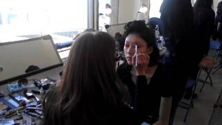 Houghton NYFW FW 2012 Backstage Makeup Thumbnail