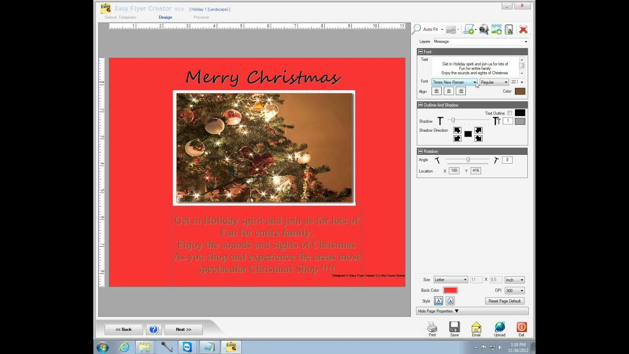 flyer templates on easy flyer creator makes a business flyer wmv