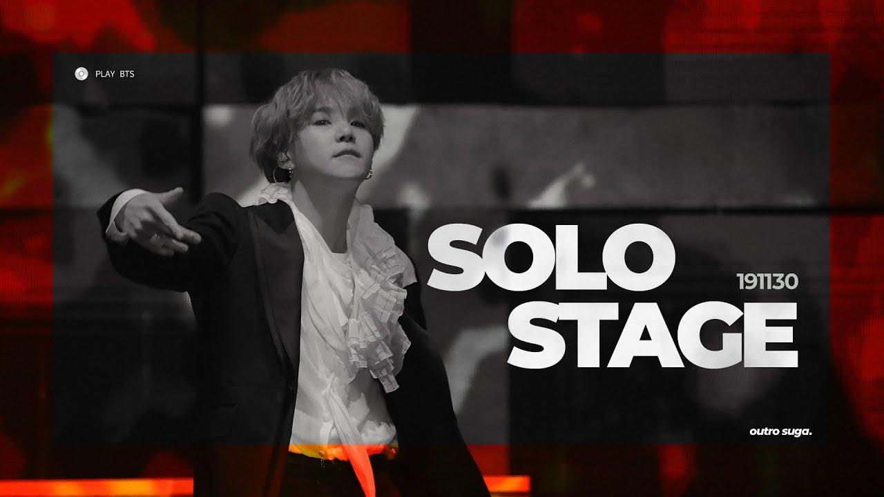 191130 멜론뮤직어워드(MMA) - 윤기 독무 (solo stage) BTS SUGA 방탄소년단 슈가 (4K fancam)