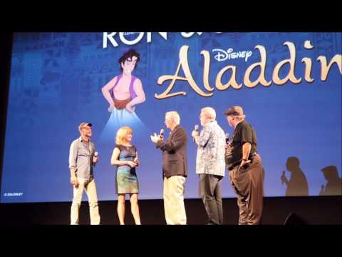 Aladdin Movie Panel with Directors, Voice Actor, and Live-action References