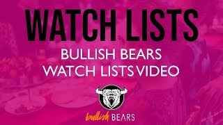 Stock Watch Lists - Bullish Bears Stock Watch List 6-22-2018