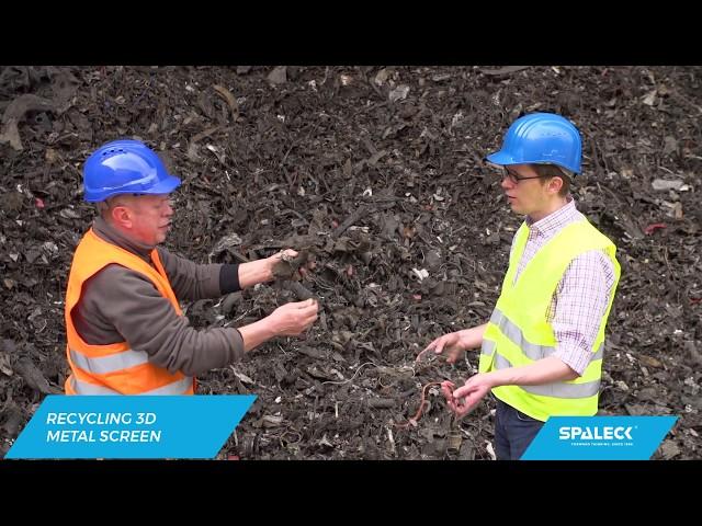 Scrap metal recycling plant for E Scrap, ASR, SHF | SPALECK 3D COMBI Screen