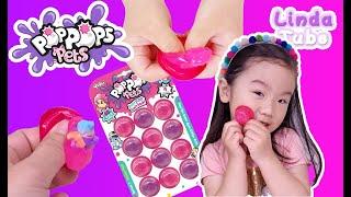 Linda Tube[린다튜브] 팝팝스펫츠 슬라임 터트리기 plays with Pop Pops Pets slime