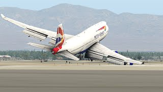 Most Terrible Landings From Boeing 747 In X-Plane 11