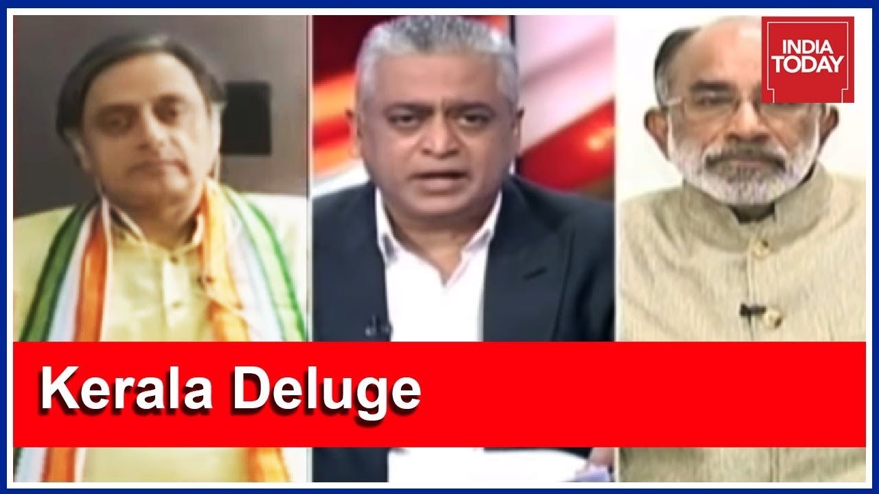 Kerala Fights Flood Beyond Political Differences : Tharoor & KJ Alphons | News Today With Rajdee
