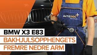 Montering Bærebro BMW X3 (E83): gratis video