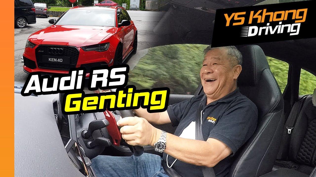 Audi RS6, 800hp, 1000Nm Torque, Wet Road [Genting Hill Climb] | YS Khong Driving