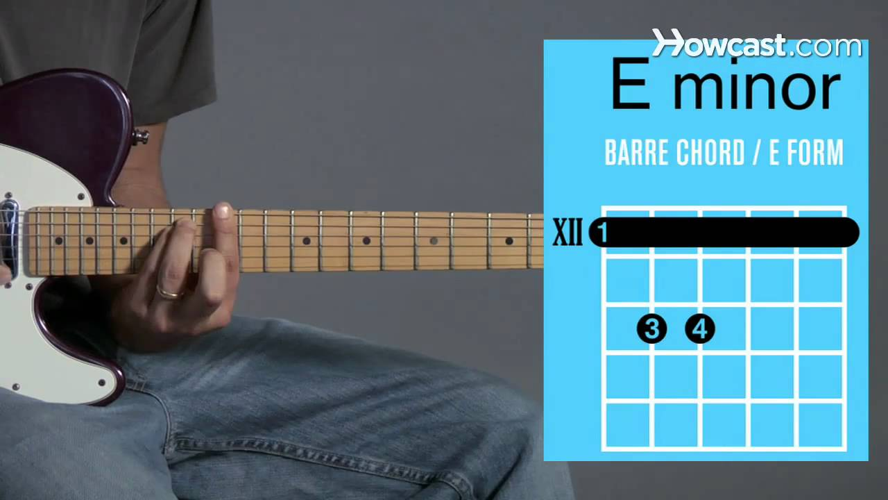 How To Play An E Minor Barre Chord Guitar Lessons Youtube